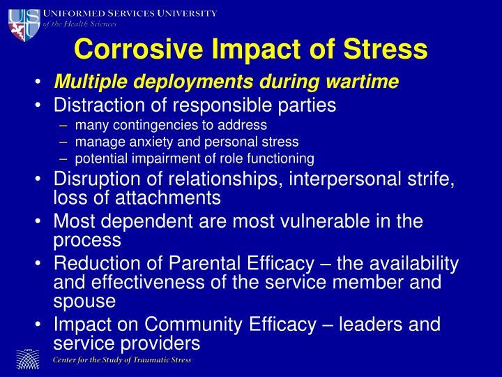 Corrosive Impact of Stress