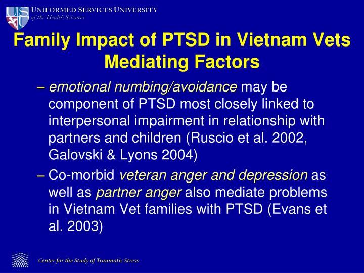 Family Impact of PTSD in Vietnam Vets