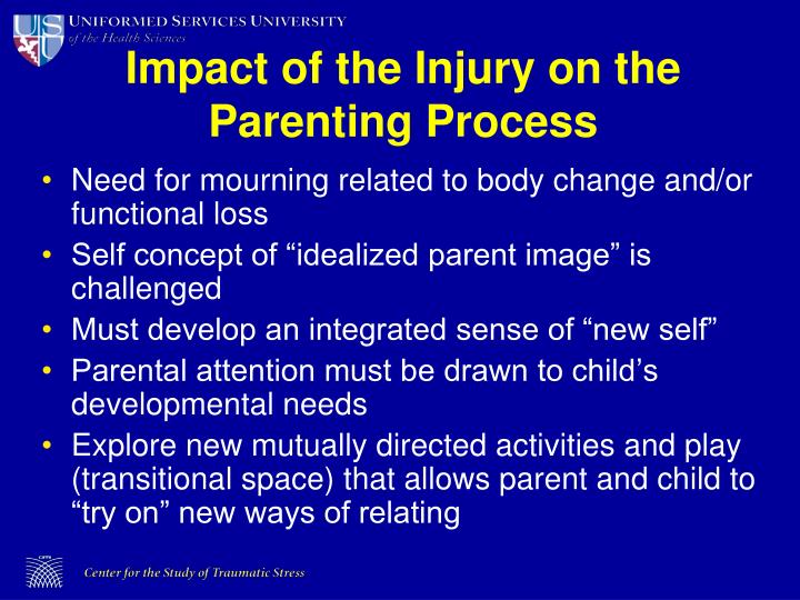 Impact of the Injury on the Parenting Process