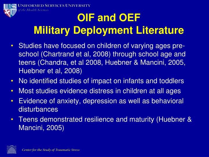 OIF and OEF
