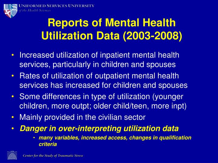 Reports of Mental Health