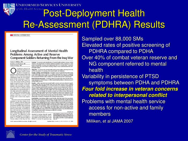 Post-Deployment Health