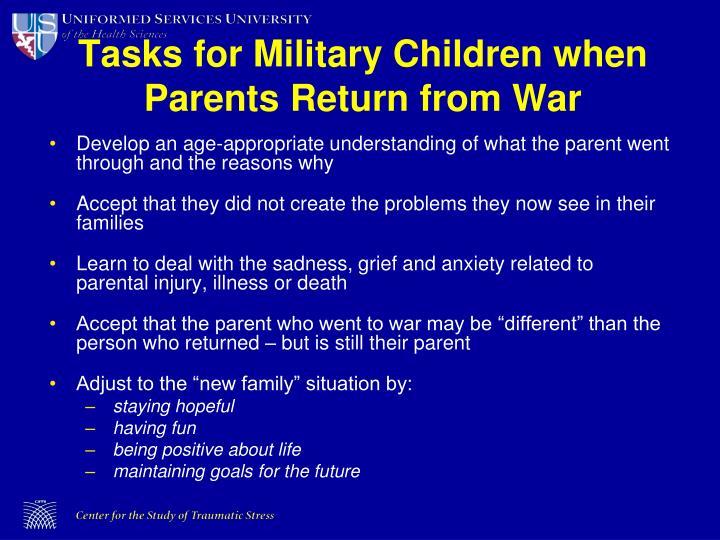 Tasks for Military Children when