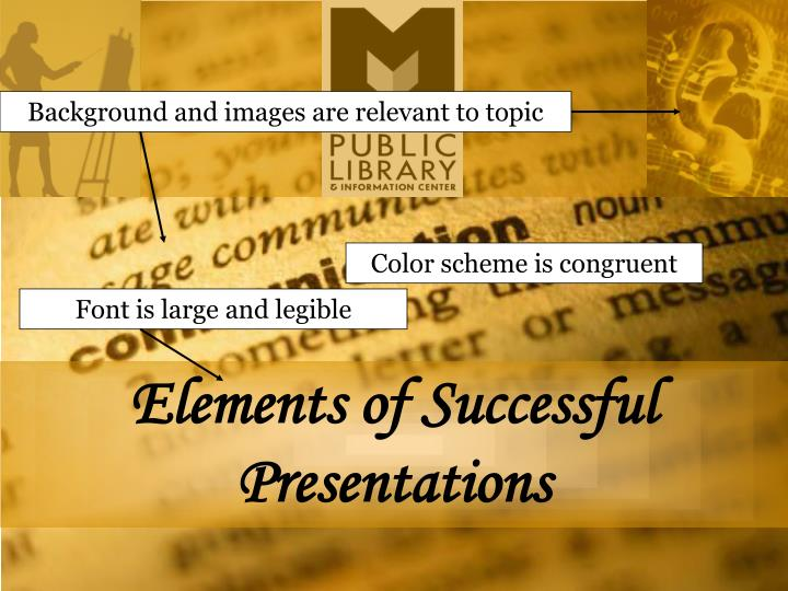 Background and images are relevant to topic