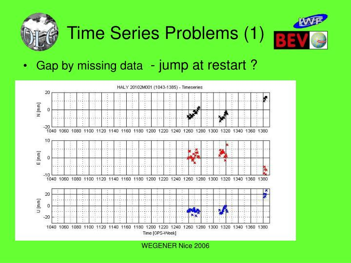 Time Series Problems (1)