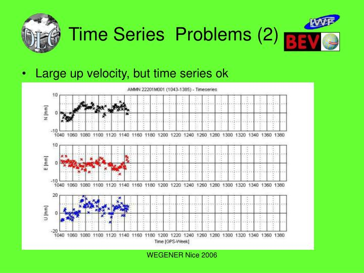 Time Series  Problems (2)