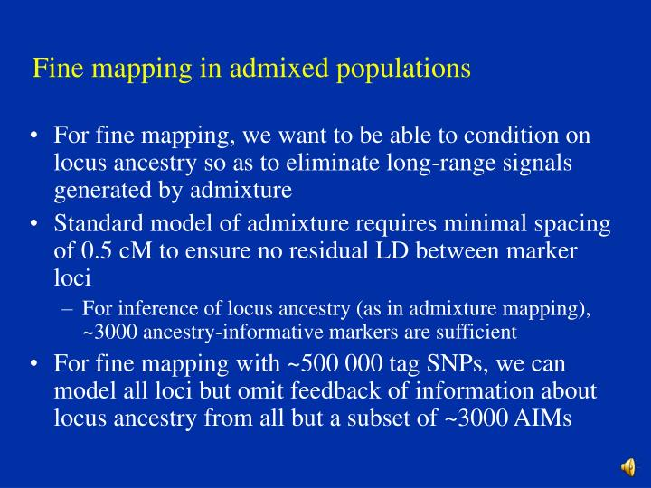 Fine mapping in admixed populations