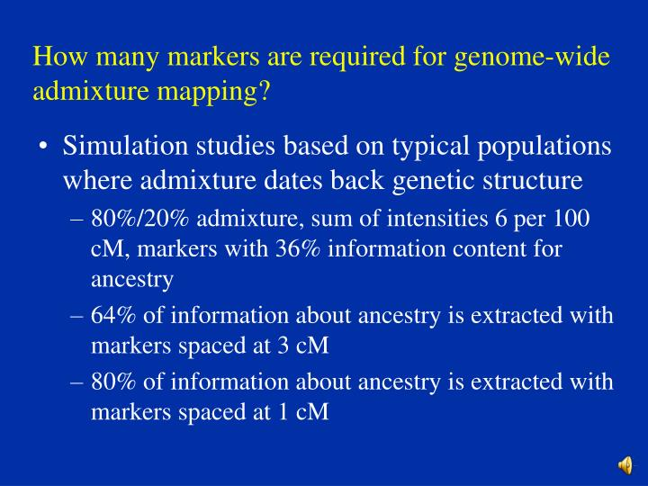 How many markers are required for genome-wide admixture mapping?