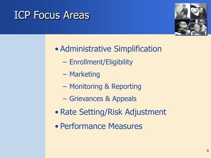 ICP Focus Areas