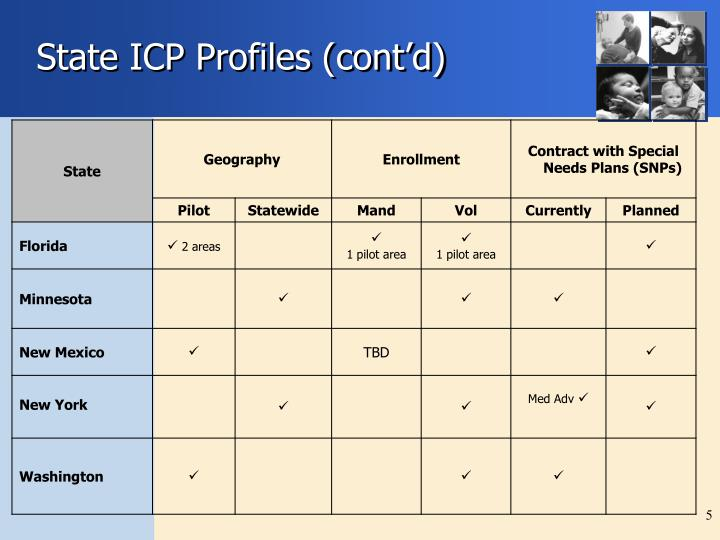 State ICP Profiles (cont'd)