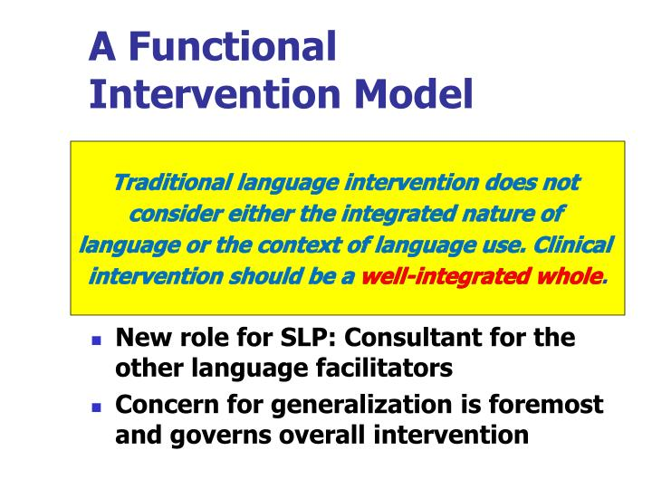 A functional intervention model
