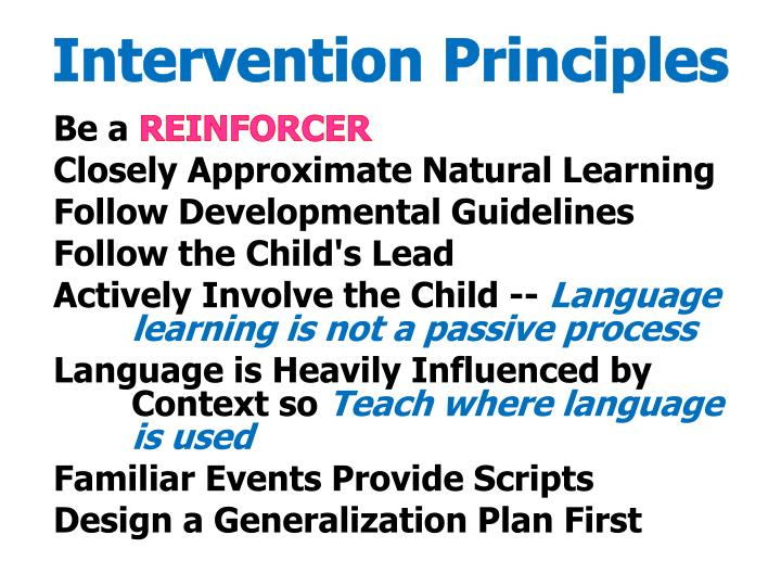 Intervention Principles