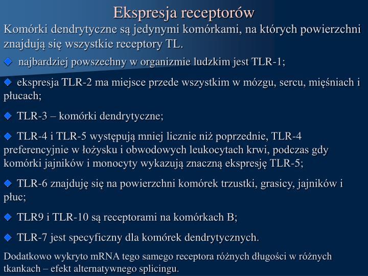 Ekspresja receptorów