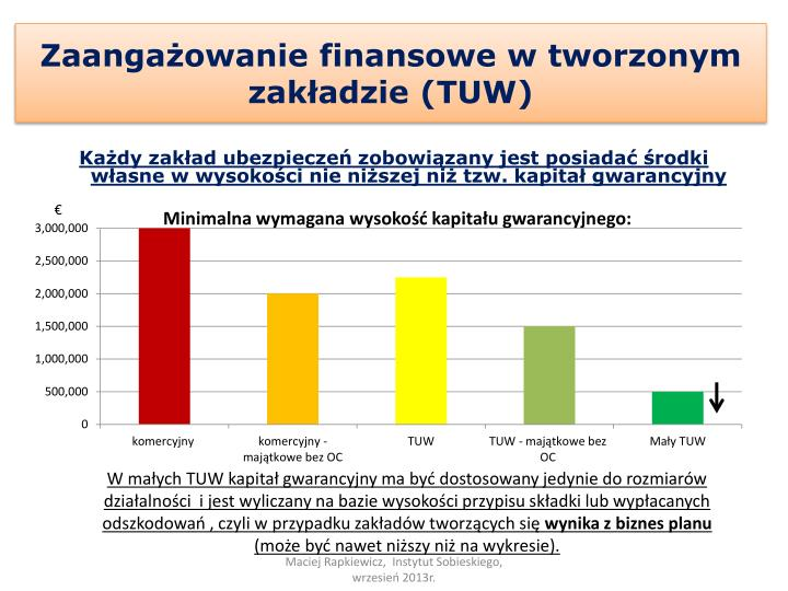 Zaangażowanie finansowe w tworzonym zakładzie (TUW)