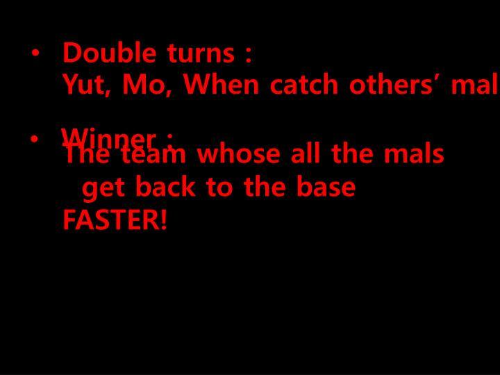 Double turns :