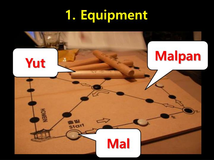 1. Equipment