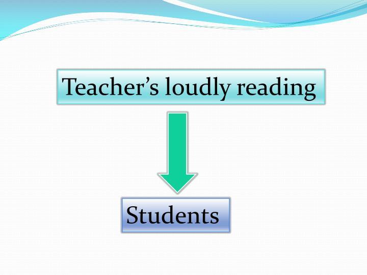 Teacher's loudly reading