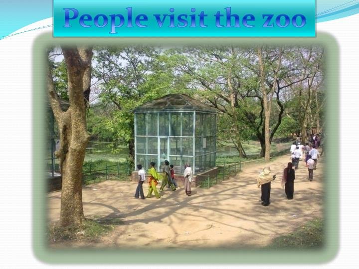 People visit the zoo