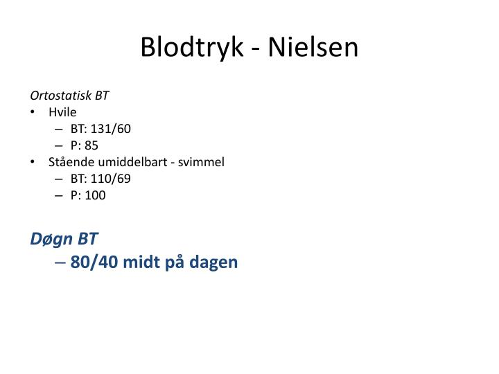 Blodtryk - Nielsen