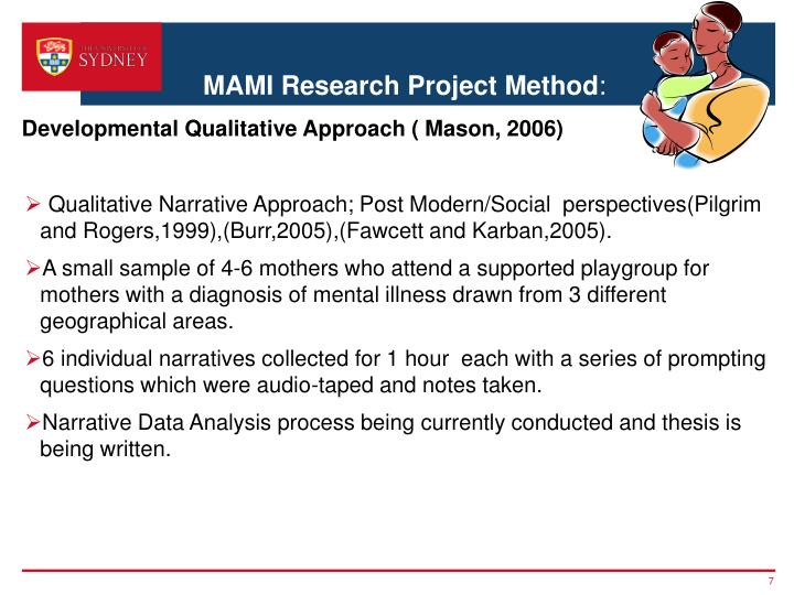 MAMI Research Project Method