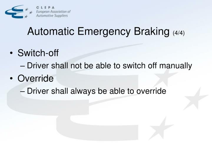 Automatic Emergency Braking