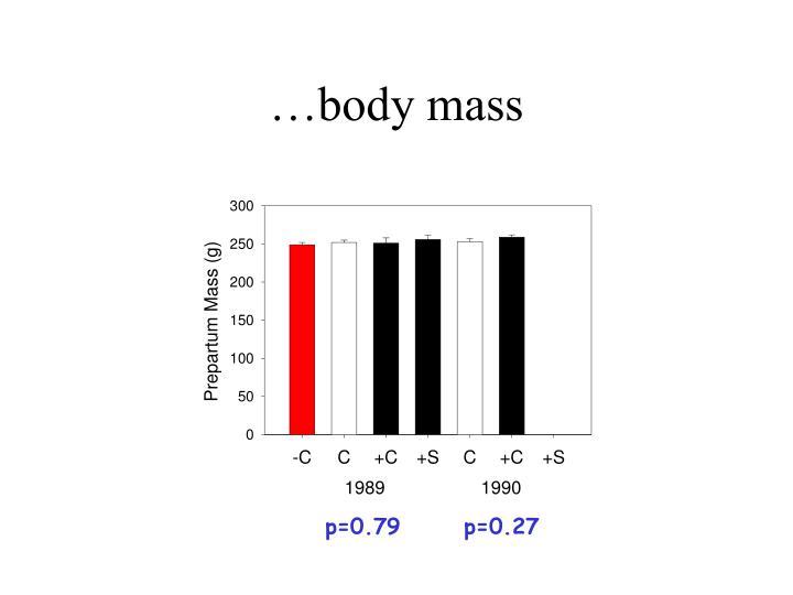 …body mass