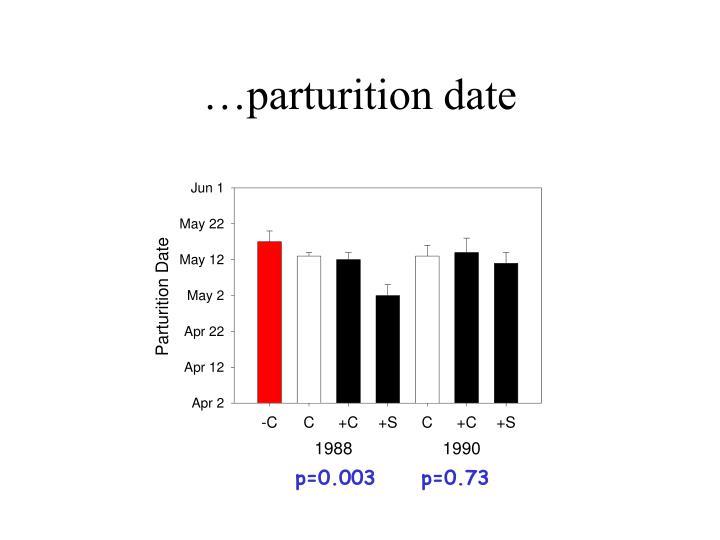 …parturition date