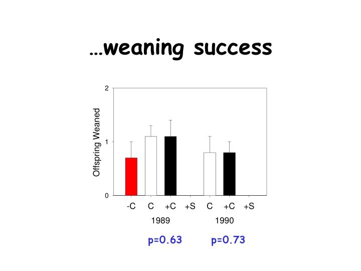 …weaning success