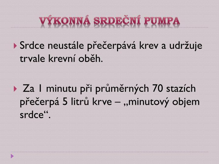 Výkonná srdeční pumpa