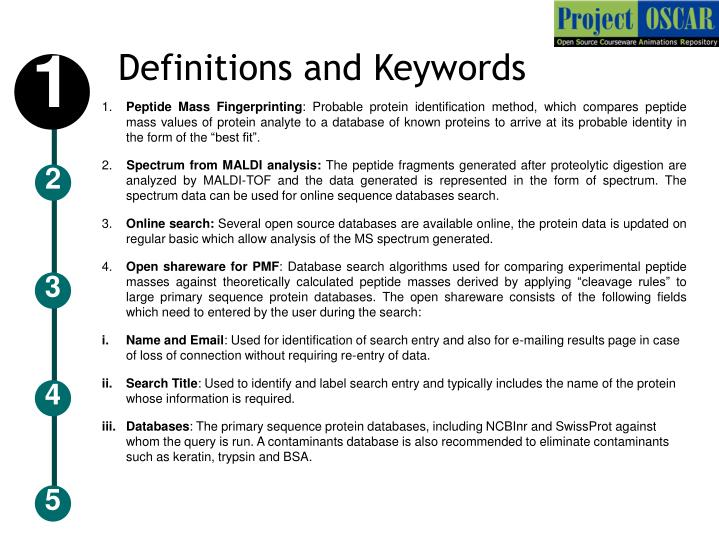 Definitions and Keywords
