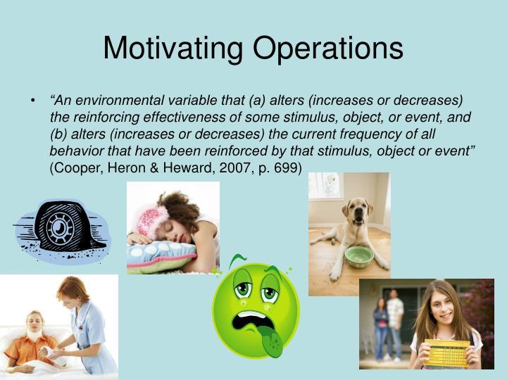 Motivating Operations