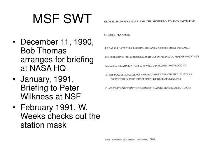 MSF SWT