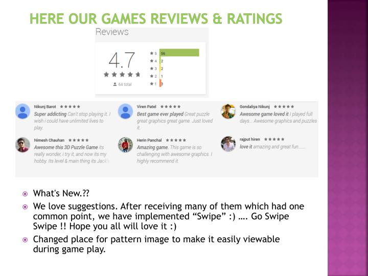 Here our games reviews & ratings
