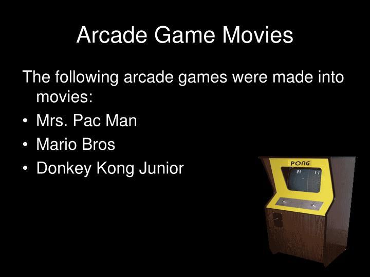 Arcade Game Movies