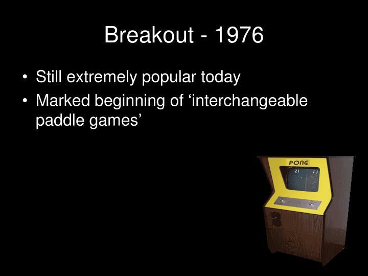 Breakout - 1976