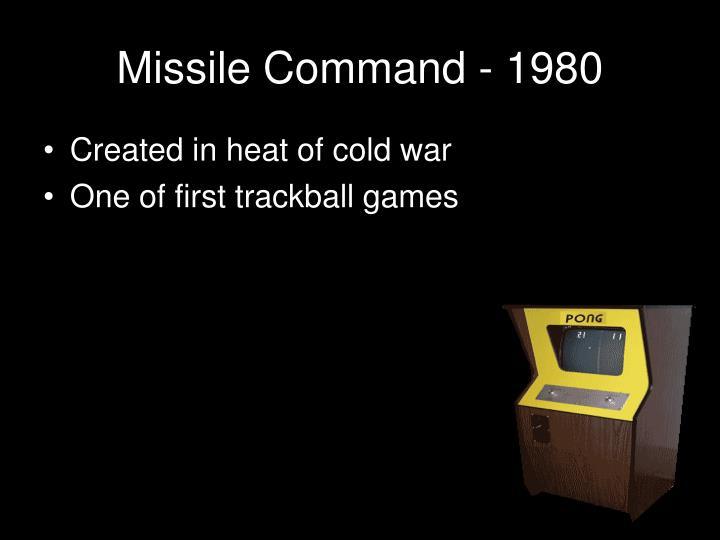 Missile Command - 1980