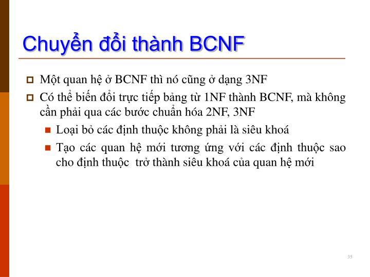 Chuyển đổi thành BCNF