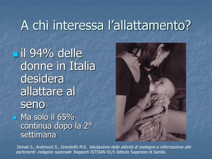 A chi interessa l'allattamento?