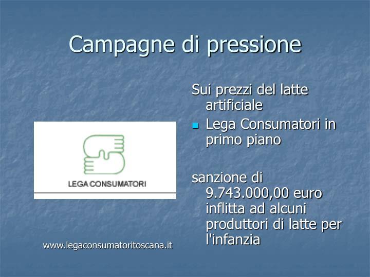 Campagne di pressione