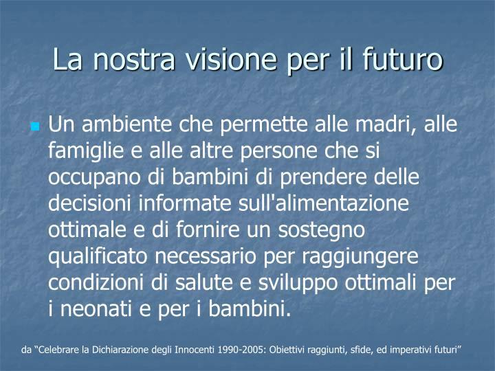 La nostra visione per il futuro