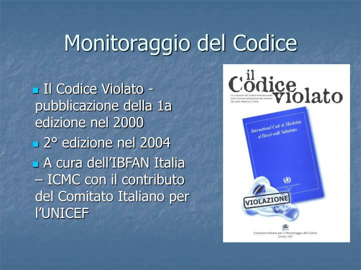 Monitoraggio del Codice