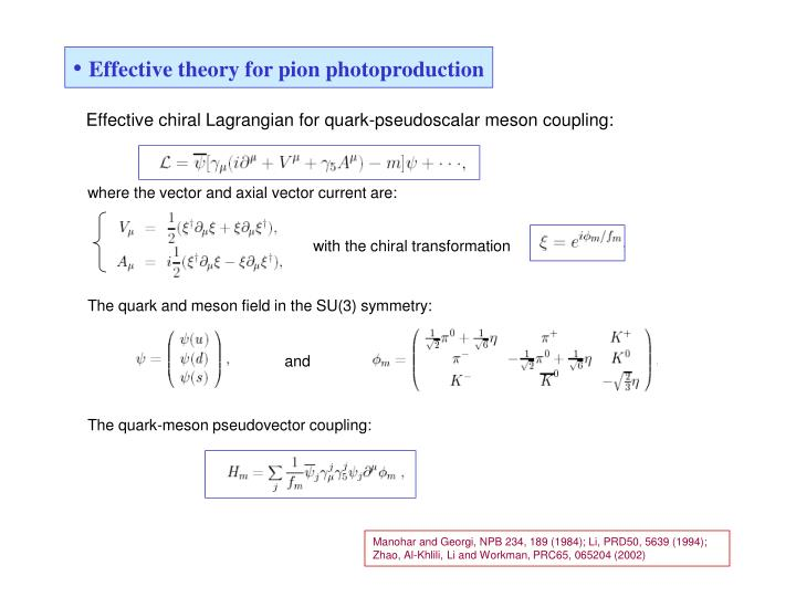 Effective theory for pion photoproduction