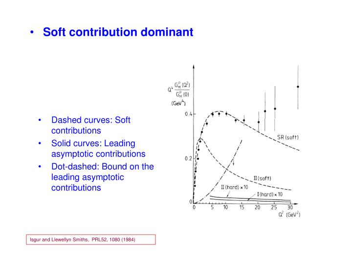 Soft contribution dominant
