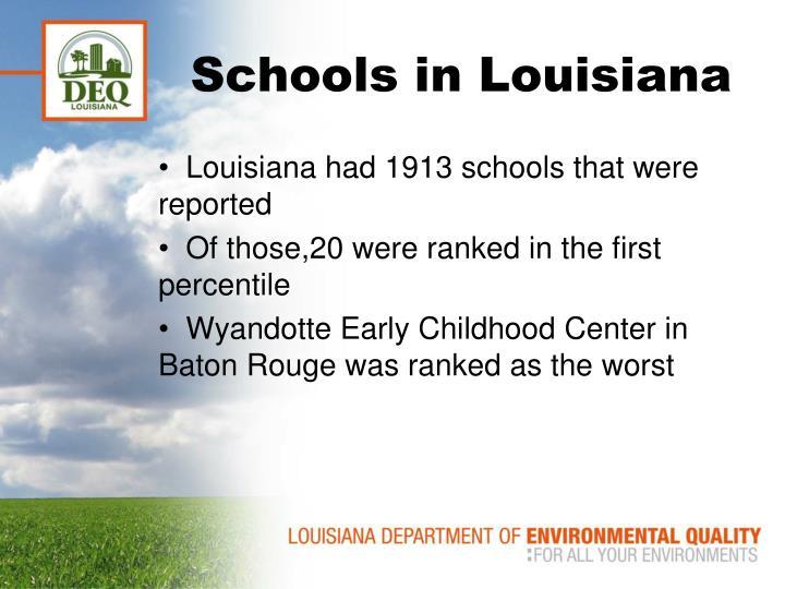 Schools in Louisiana