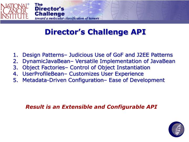 Director's Challenge API