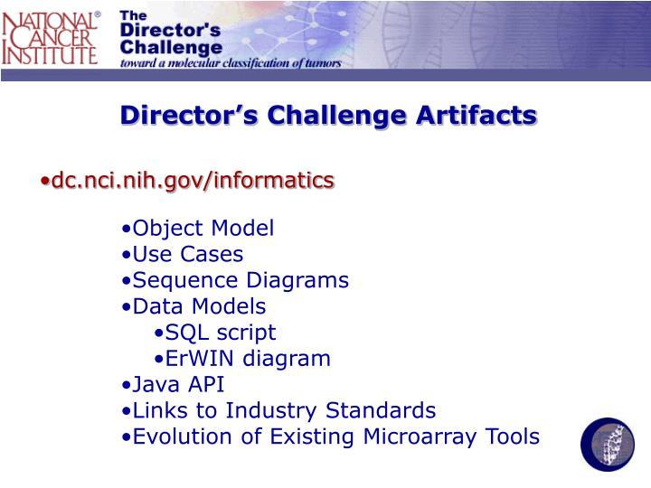 Director's Challenge Artifacts
