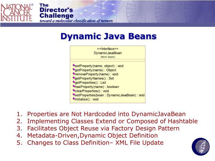 Dynamic Java Beans