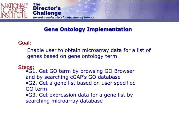 Gene Ontology Implementation