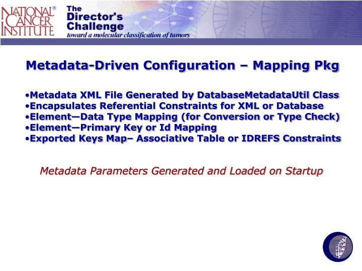 Metadata-Driven Configuration – Mapping Pkg