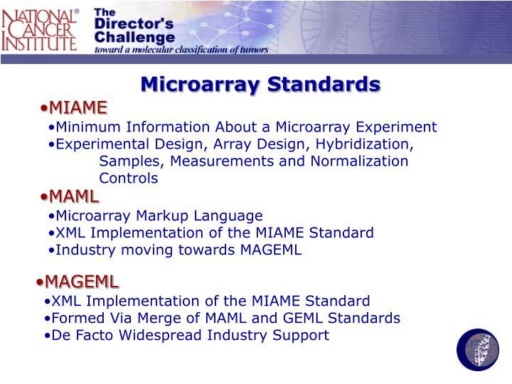 Microarray Standards